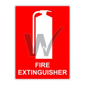 Fire Extinguisher Sign for Vehicles