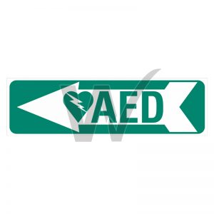 AED Left Arrow Sign