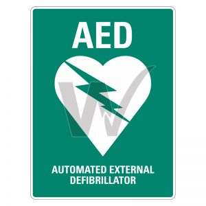 Automated External Defibrillator (AED) Sign