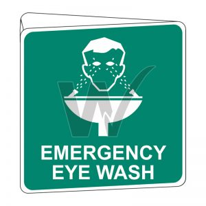 Emergency Eye Wash Sign (Double Sided) Off Wall