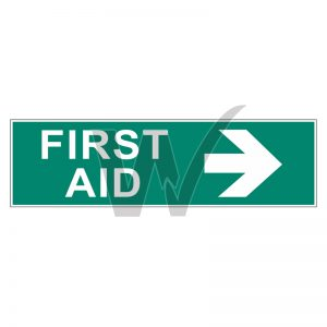 First Aid Right Arrow Sign