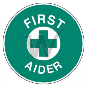 First Aider Sticker (Pack 5)