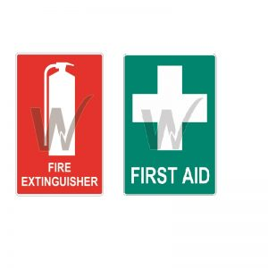 First Aid and Fire Extinguisher Vehicle Sticker Pack