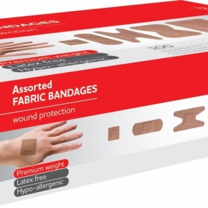 Fabric Strips Assorted Sizes Box 100