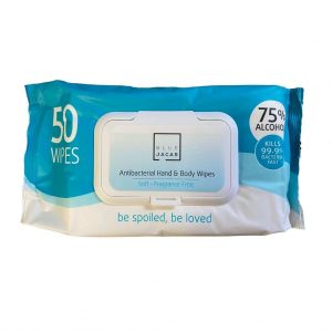 Antibacterial Wipes (75% Isopropyl Alcohol) Hand & Surface Wipes Pack 50