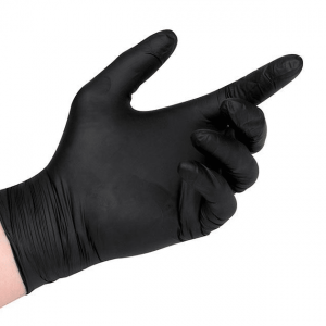 Black Storm Powder Free Black Nitrile Gloves Box 100 MEDIUM