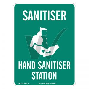 Hand Sanitiser Station Sign 225mm x 300mm Poly