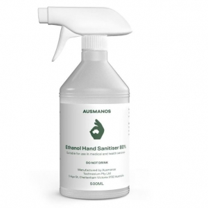 Ausmanos Alcohol (80% Ethanol) Hand and Surface Sanitiser 500ml