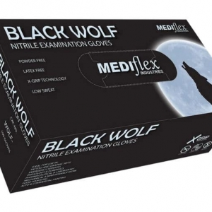 Black Wolf Powder Free Nitrile Gloves Box 100